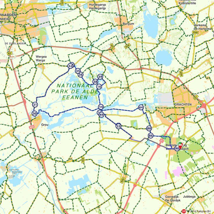 Fietsroute: Het Friese Nationaal Park De Alde Feanen (http://www.route.nl/fietsroutes/157787/Het-Friese-Nationaal-Park-De-Alde-Feanen/)