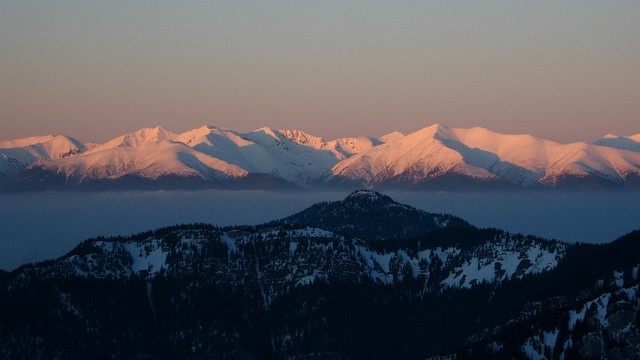 View from Chopok to Tatra Mounstains at the sunset by Karol Majewski, via Flickr
