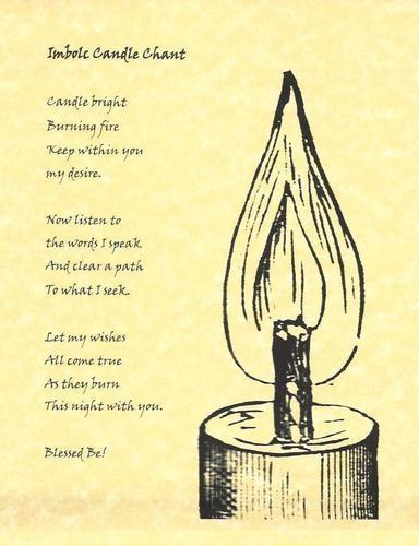 Imbolc:  Imbolc Candle Chant.