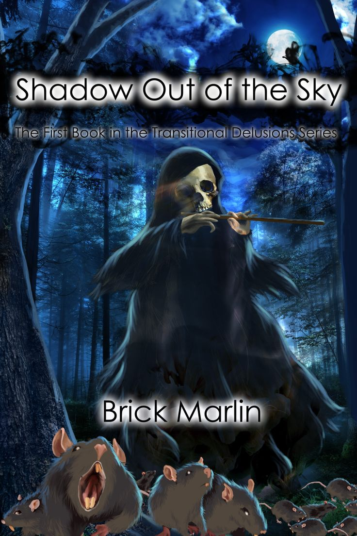 Cover to a book by Brick Marlin called Shadow out of the sky.  Digital.  Seventh Star Press.