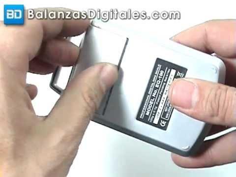 Balanza Digital Fuzion Type - Manual de uso y calibración -