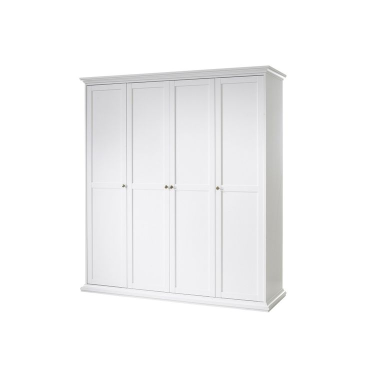 Fancy Kleiderschrank Pariso t rig wei Landhausstil