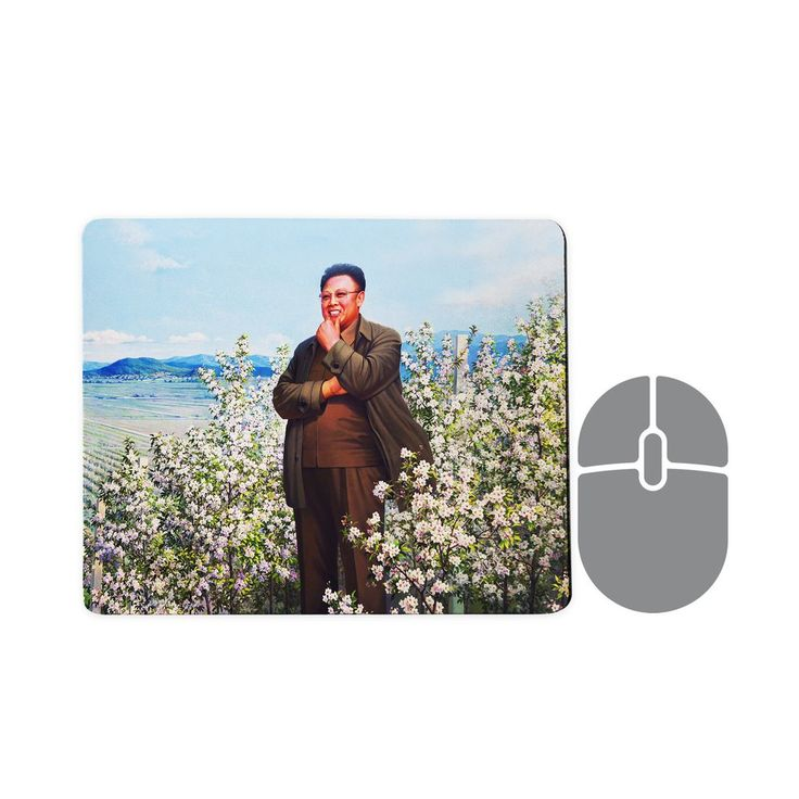 Kim Jong II Painting Mousepad  Kim Jong Il was the illest despot of all. He starved an entire nation to end up with some pretty dank memes. That's the kind of leader we like (to hate).