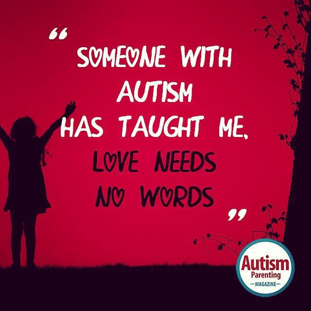 Autism Quotes For Tattoos Quotesgram: Love Needs No Words! #autism #autismwny #buffalo #love