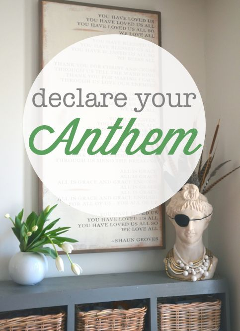 The power of choosing and declaring your anthem, do this today: Colour, Anthem, Gift Ideas, Design Ideas, Event, Decorating Ideas, Project Ideas