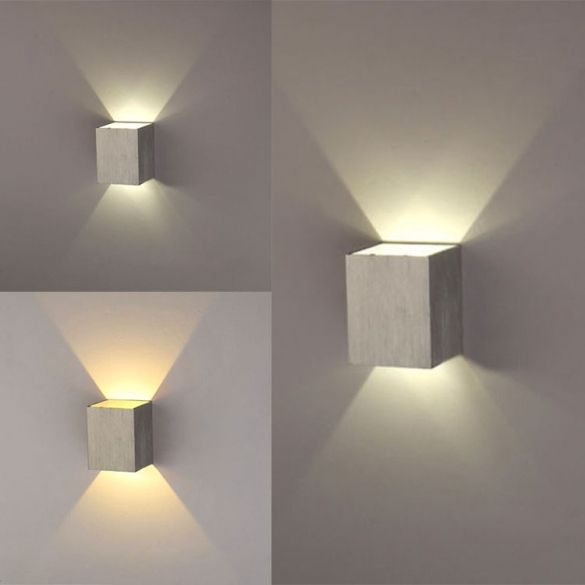 New modern 3w led square wall lamp hall walkway living room light fixture