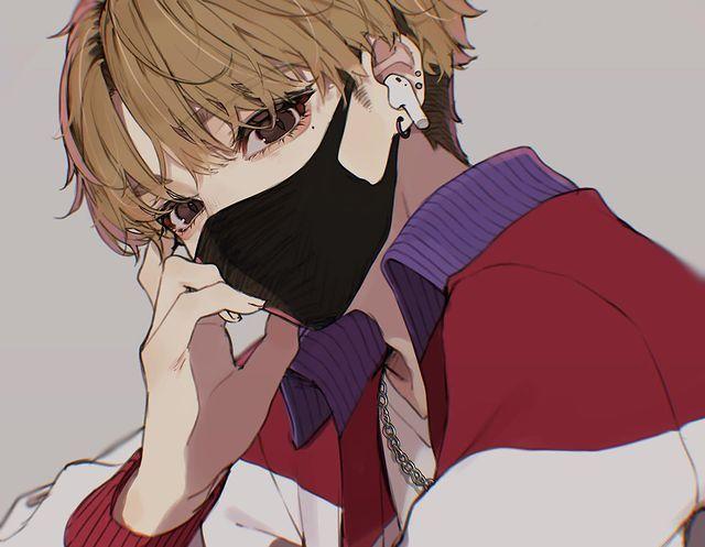 Instagram 上的 はむねずこ ジャージ男子のススメ ジャージ マッシュ男子 イラスト Illustration イラストグラム Airpods マスク センターパート In 2021 Hot Anime Guys Anime Boy Anime Guys