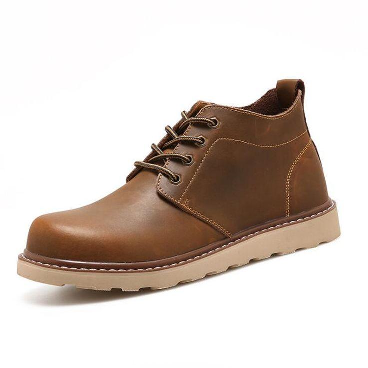 Nouveau mode bottes hiver chaud de Summer Cool chaussures hommes en cuir Flats chaussures basses hommes Casual de chaussures pour ch Ij3Sr2
