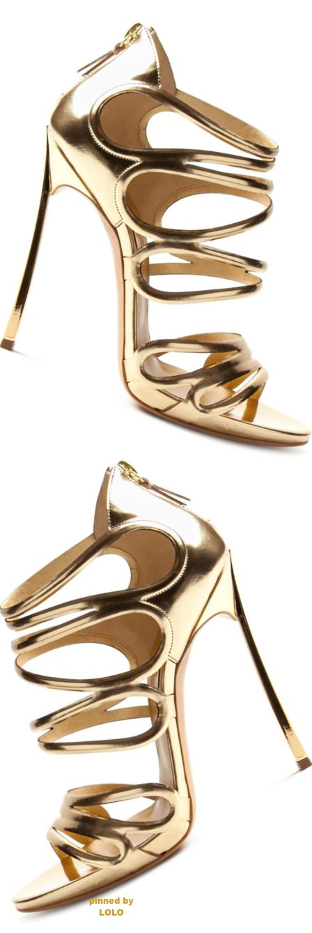 Casadei gold sandals #womensshoes