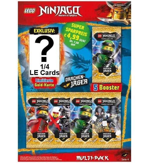 Lego Ninjago Serie 4 Trading Cards Multi Pack Stickerpoint Lego Ninjago Lego Ninjago