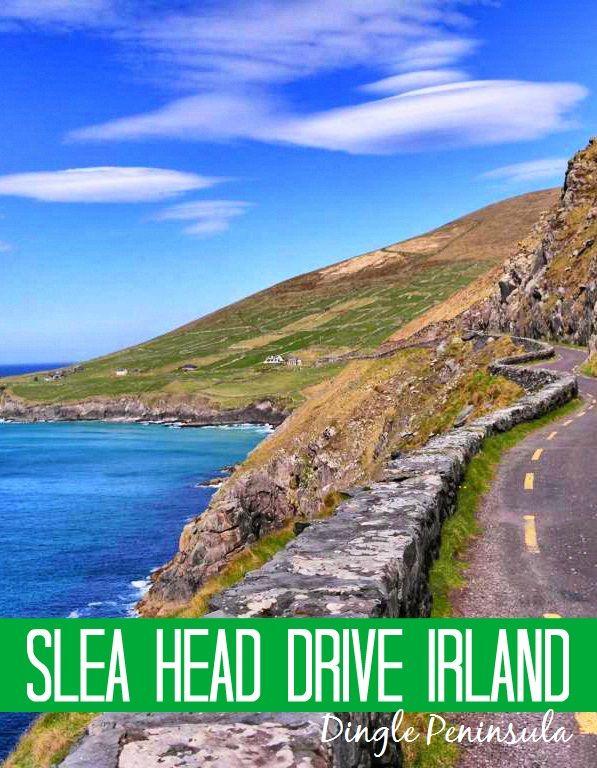 Der Slea Head Drive – die schönste Panoramastraße Irlands - führt 30 km lang entlang der spektakulären Küste der Dingle Peninsula.