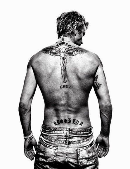 David Beckham Tattoos 14 photos Morably