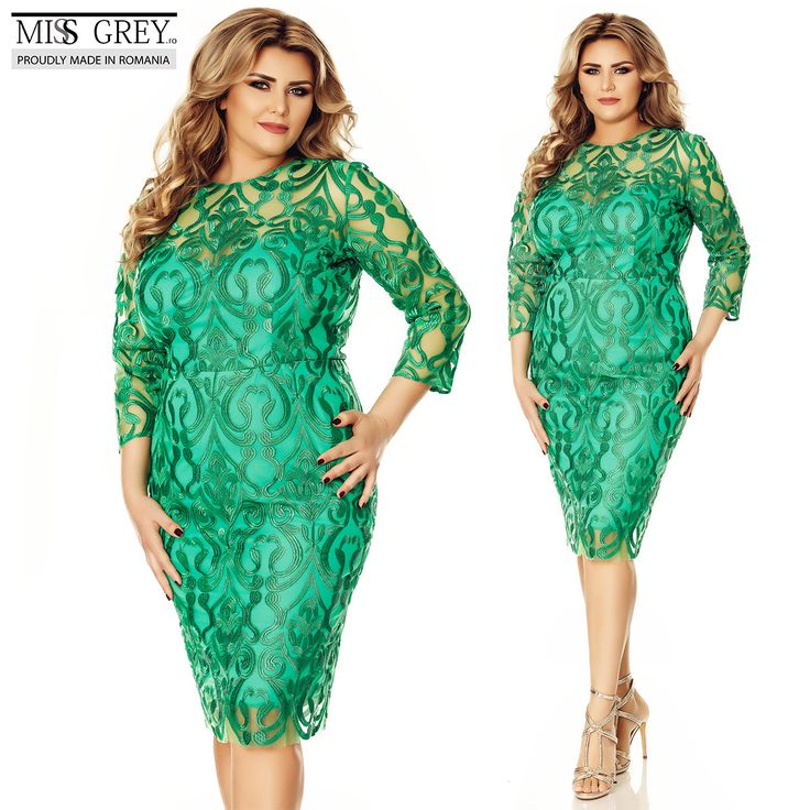Discover the fresh infusion of refinement and playfulness that defines our green Anemona #Plus #Size #dress, for any special occasions you want to display your true personality.