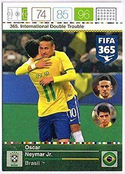 Panini Adrenalyn XL FIFA 365 Oscar & Neymar International Double Trouble Trading Card