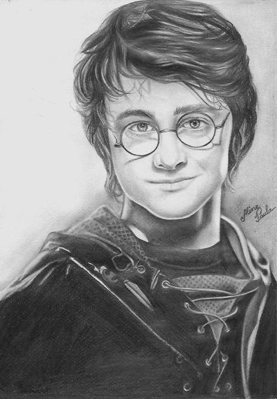 Blog de alinepaula :DESENHANDO COM REALISMO, Desenho a lápis - ' Hary Poter ' - Faça sua encomenda.