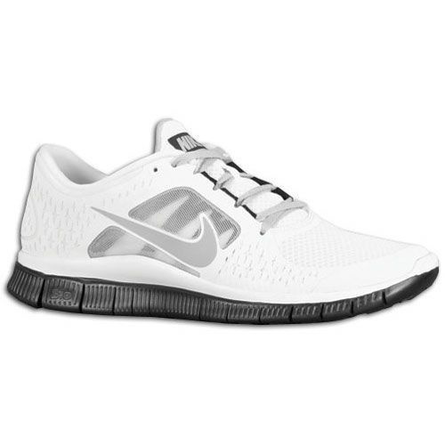 Nike Free Run + 3 - Running men shoes - white/black/grey HOT