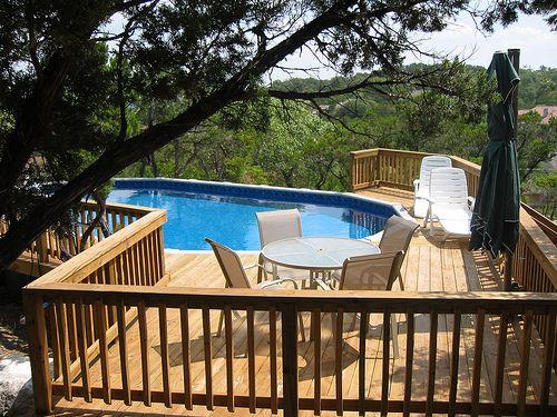 Luxury Backyard Swimming Poolsoval Above Ground Pool Deck 66 best above ground pool deck designs images on pinterest