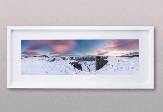 Winnats Pass. Snow and Rock. Sunrise by AdamClarkPhotography