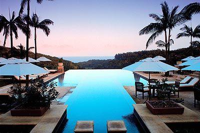 Durban & Umhlanga, SOUTH AFRICA  Infinity pool at Zimbali Lodge.