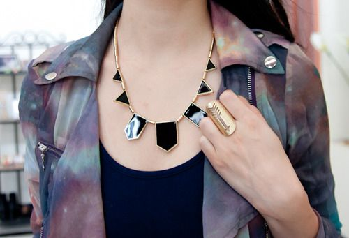 #Jacket #Galaxy #Neckless #Rings