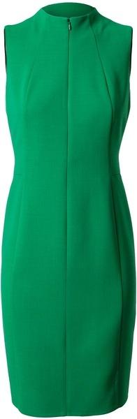 AKRIS Tailored Crepe Wool Pencil Dress - Lyst