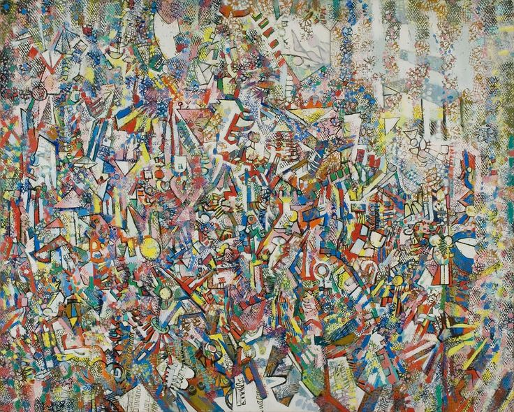 Rozsda Endre: Metropolisz / Metropolis - 1979 - 88x91 cm - olaj, vászon I oil on canvas