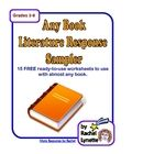I love this for 5th grade!FREE Any Book Literature Sampler - 14 Printable Pages!