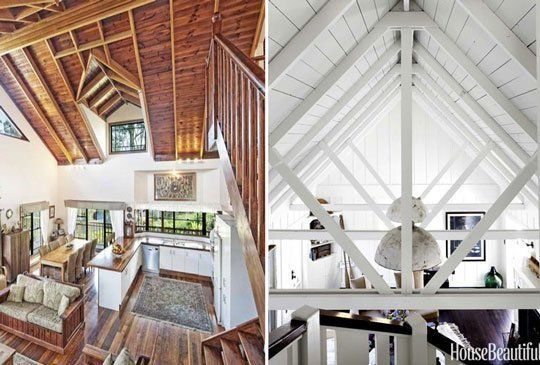 How Do I Paint My High Cathedral Ceilings Timber