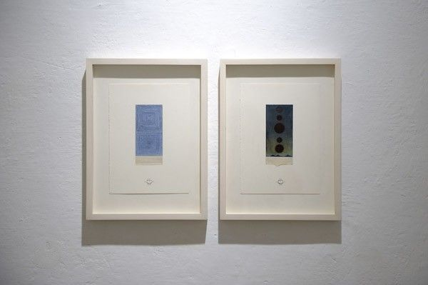José Antonio Suárez Londoño, Dibujos con renglones - Pareja No 7, 2011, mixed media on paper, 28 x 20 cm. Galleria Continua San Gimignano, 2016. Photo by Ela Bialkowska