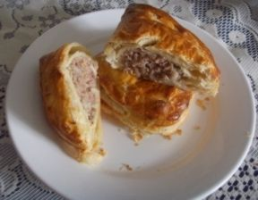Forfar Bridie - The Forfar Bridie is believed to have first been created by a woman called a Maggie Bridie who was a travelling food seller. But whatever the origin they are very popular today and remembered fondly by many Scots around the world.
