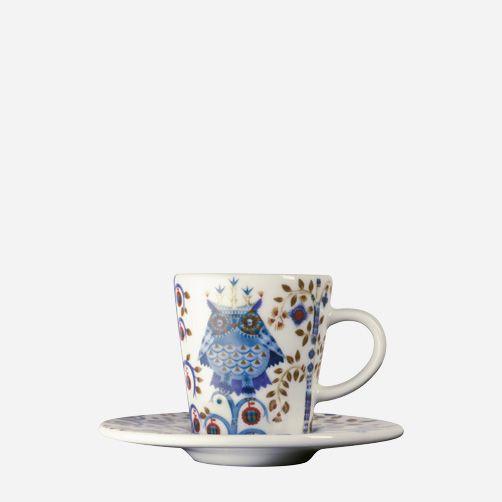 Iittala - Tuotteet - Syöminen - Astiasarjat - Espressokuppi 0,1 l/lautanen 11 cm valkoinen