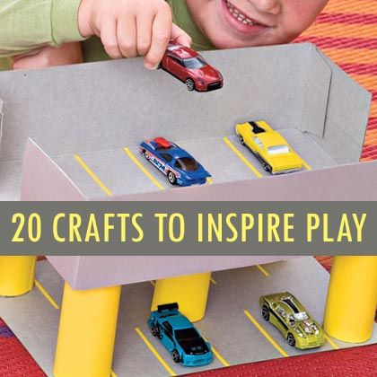 Child's Play: 20 Crafts to Spark Your Child's Imagination | A shoe box and toilet paper tubes!!