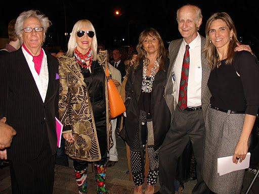 Rogelio Polesello, Marta Minujin, la artista Sanjuanina Cecilia Rabbi Baldi, Eduardo Bustelo y Virginia Agote. Foto MIRABAIRES