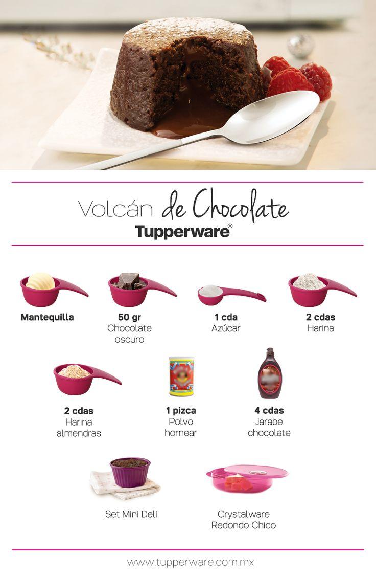 Volcán de Chocolate Tupperware