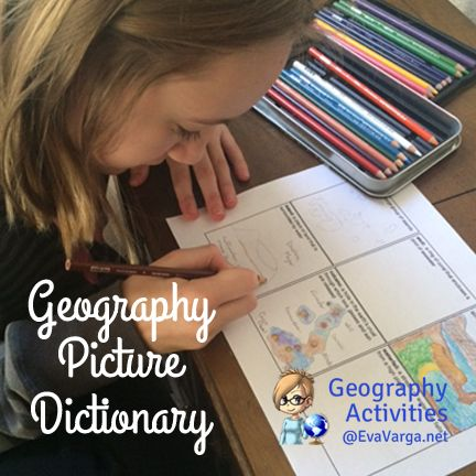 Create a Geography Picture Dictionary -- a great travel keepsake & learning tool @EvaVarga.net