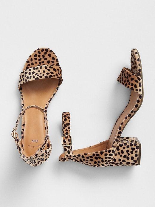 cd1476425 Gap Womens Block Heel Sandals Cheetah Brown | Products in 2019 ...