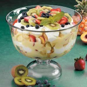 Six-Fruit Trifle Recipe | Taste of Home Recipes