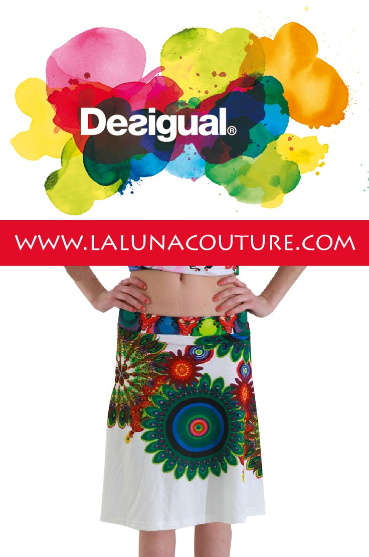 Desigual Noruega Aline skirt $74!  A seasonal must! A bohemian skirt combining bold colors in a delightful floral pattern on a white a-line skirt. Click link to order now!  https://www.lalunacouture.com/desigual-noruega-aline-skirt.html  #desigual #noruegaskirt #spring #alineskirts #shop