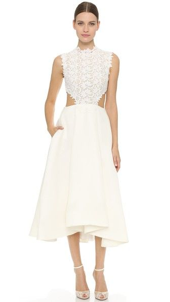 Monique Lhuillier Tea Length Dress | SHOPBOP