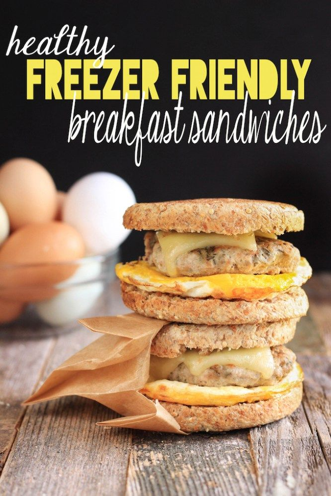 Homemade turkey sausage breakfast sandwiches are so much healthier than store bought. This sandwich is the perfect grab and go breakfast!