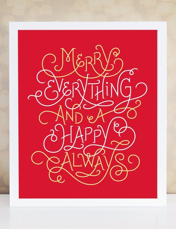 Merry Wall Decor Holiday Sign Festive Home Hy Etsy