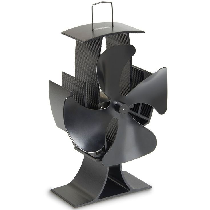 Fan For Wood Burning Stove Oven Fireplace 4 Blade Heat Powered Indoor Heat Fan