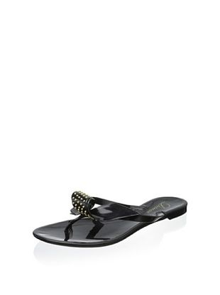 56% OFF Delman Women's Pique Jelly Sandal (Black Opaque Jelly)