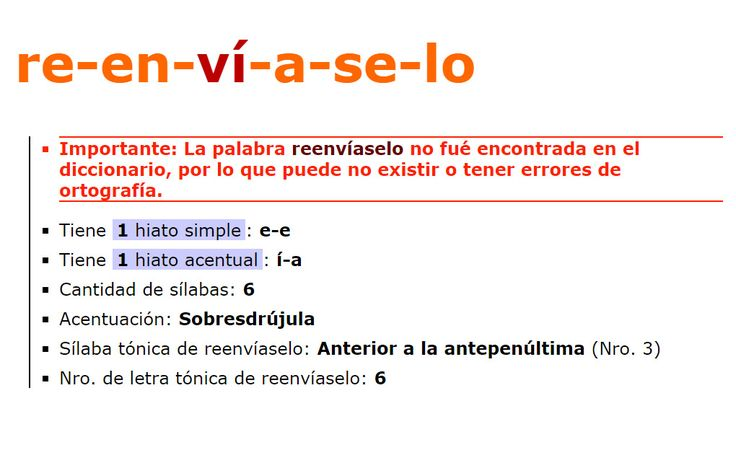 ... SEPARAR EN SÍLABAS. http://buscapalabras.com.ar/separar-en-silabas-reenv%C3%ADaselo.html