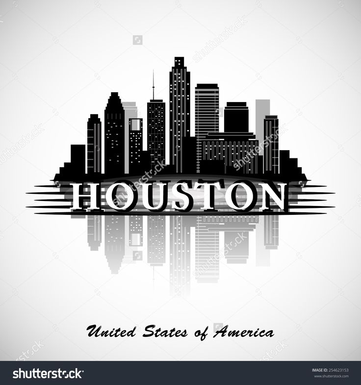 Houston Texas Skyline City Silhouette Stock Vector Illustration 254623153…