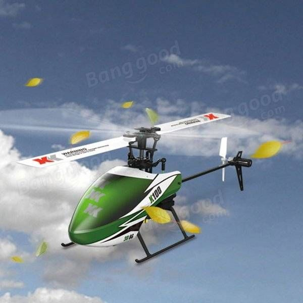 XK K100 Falcom 6CH Flybarless 3D6G System RC Helicopter BNF Sale - Banggood.com