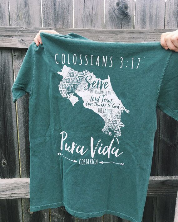 Comfort Colors T-Shirt Bluespruce : Mission Trip by ShopHaileyMae