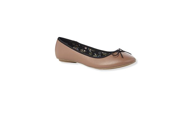 "Classic Ballet Pumps. ""Team these chic tan pumps with ankle skimming jeans for everyday style."""