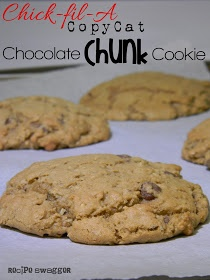 Recipe Swagger: Chick-fil-A Copycat Chocolate Chunk Cookie