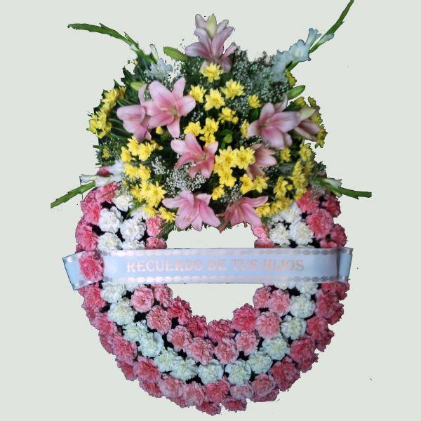 Corona de flores para los Difuntos | Flores para el Adiós ...